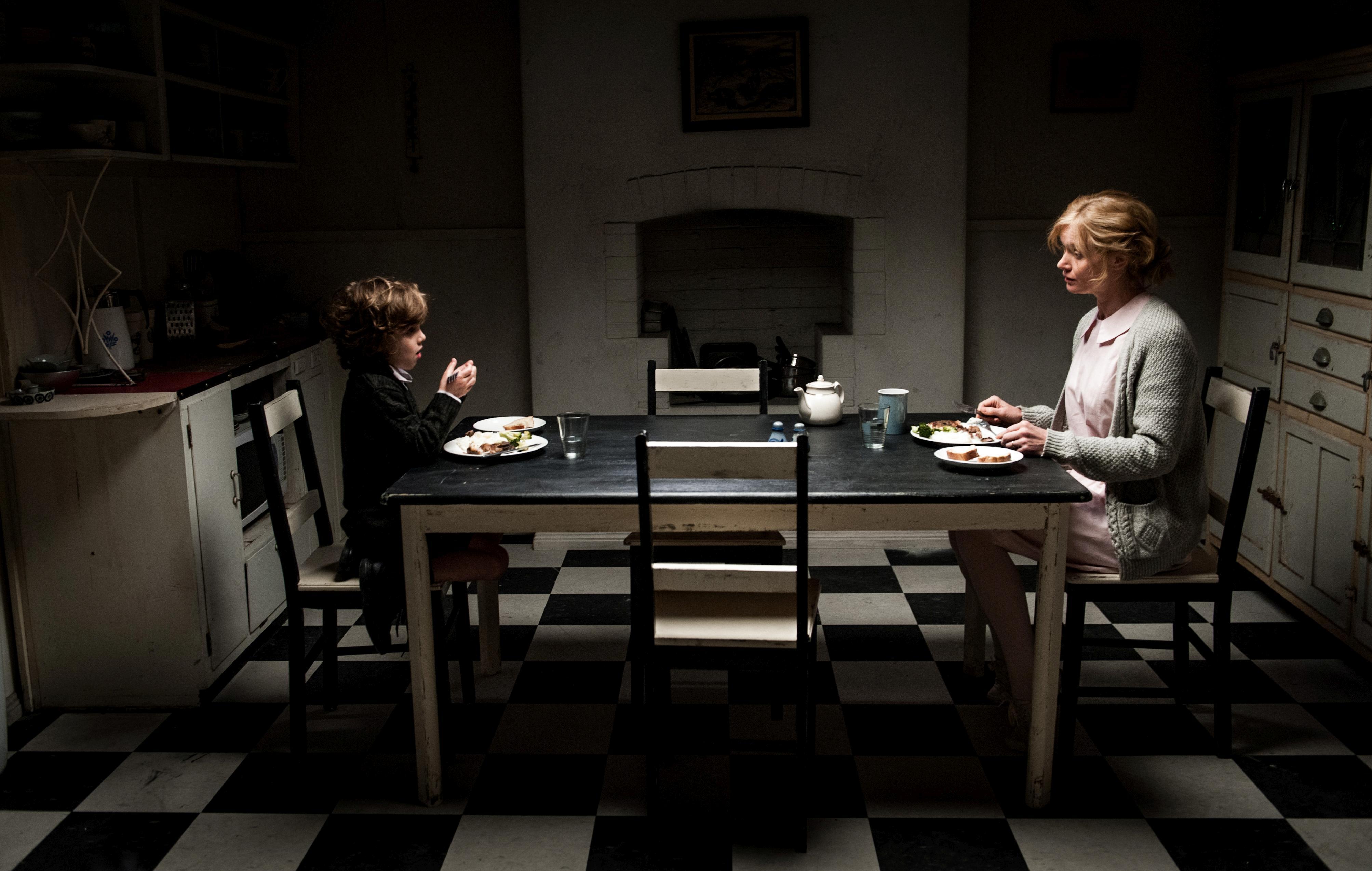Noah Wiseman and Essie Davis in The Babadook